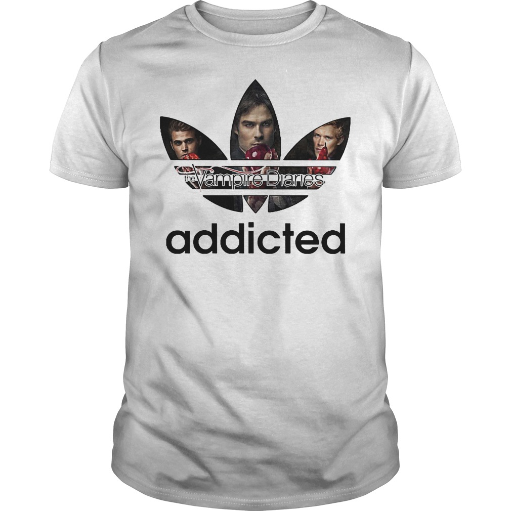 Vampire Diaries Addicted Adidas Logo Shirt