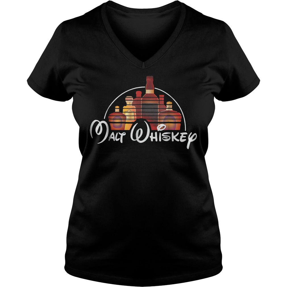 Walt Disney Malt Whiskey shirt Ladies V-Neck