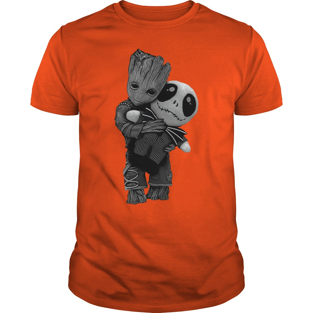 Baby Groot hug Jack Skellington dolly Shirt