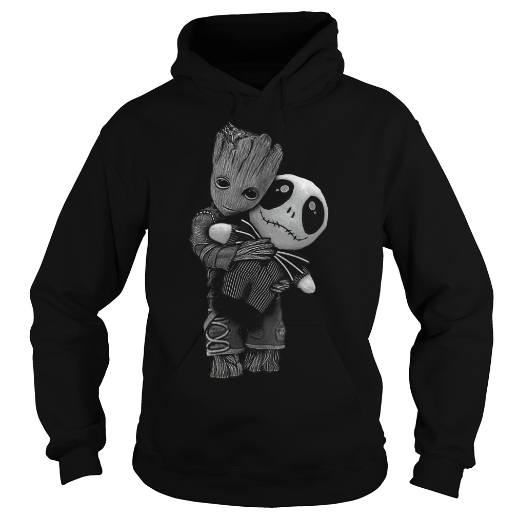 Baby Groot hug Jack Skellington dolly Shirt Hoodie