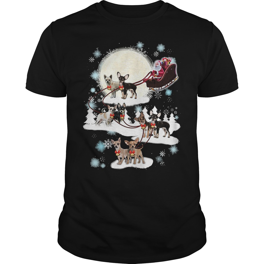 Chihuahua Christmas Reindeer shirt