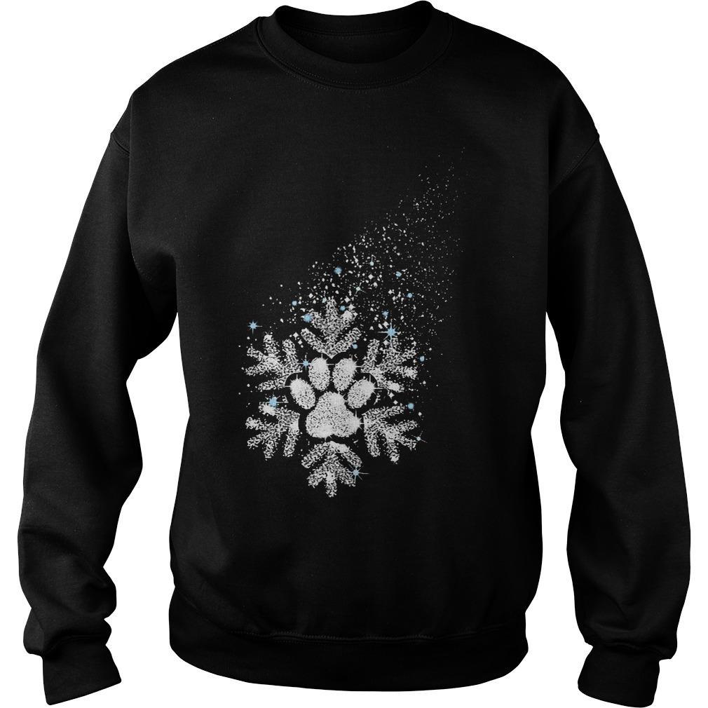 Dog snowflake shirt Sweatshirt Unisex