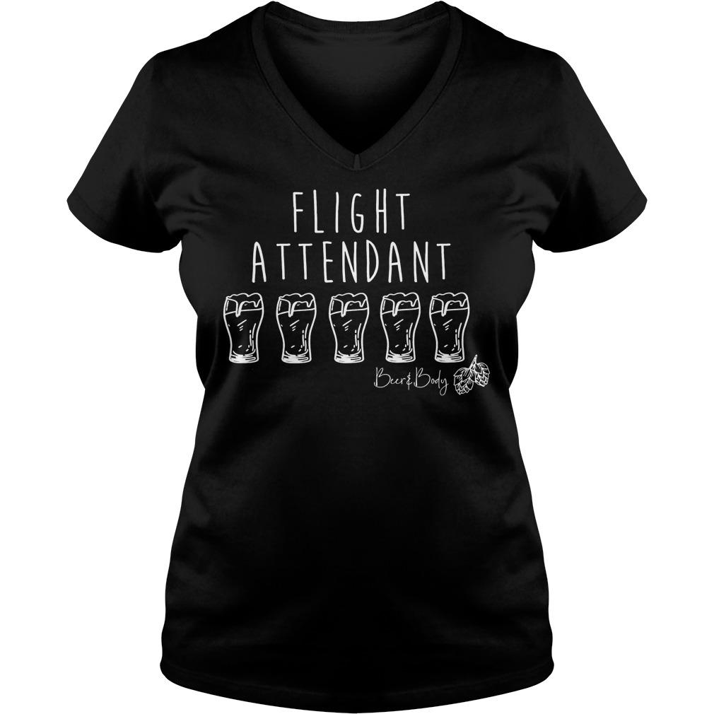 Flight attendant shirt Ladies V-Neck