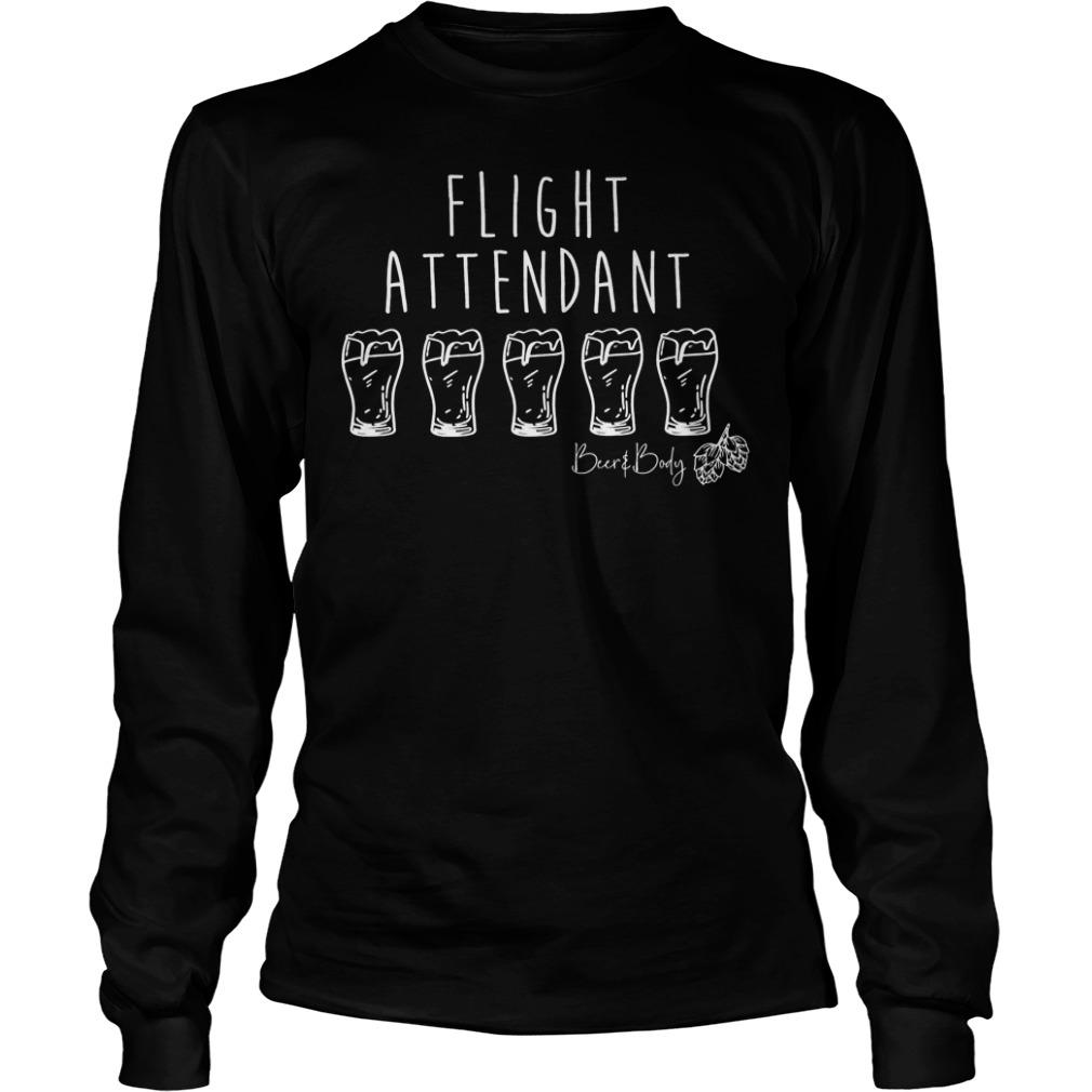 Flight attendant shirt Longsleeve Tee Unisex