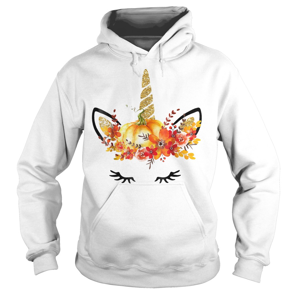 Halloween Unicorn Pumpkin Shirt Hoodie