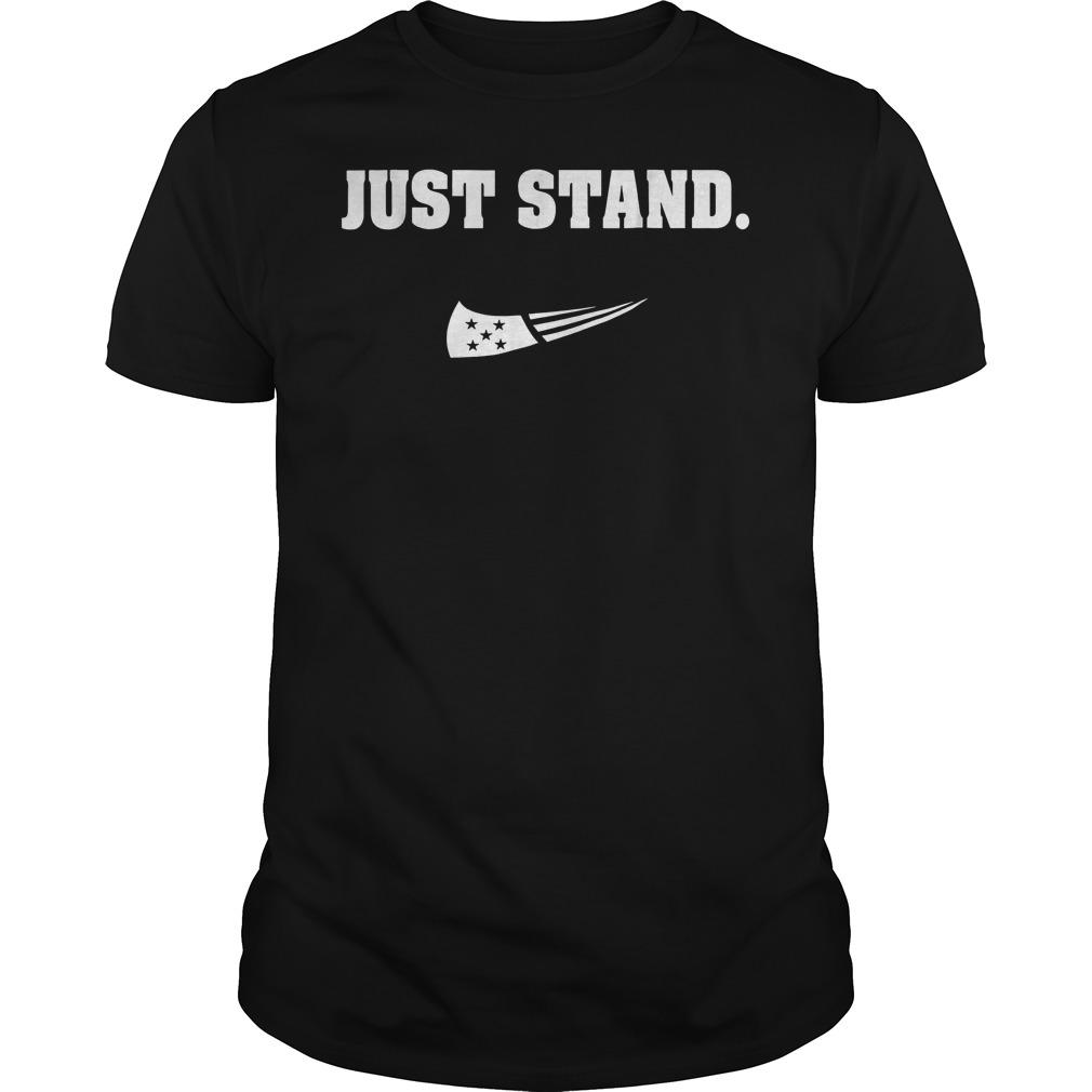 Just Stand Nike mashup american flag Shirt