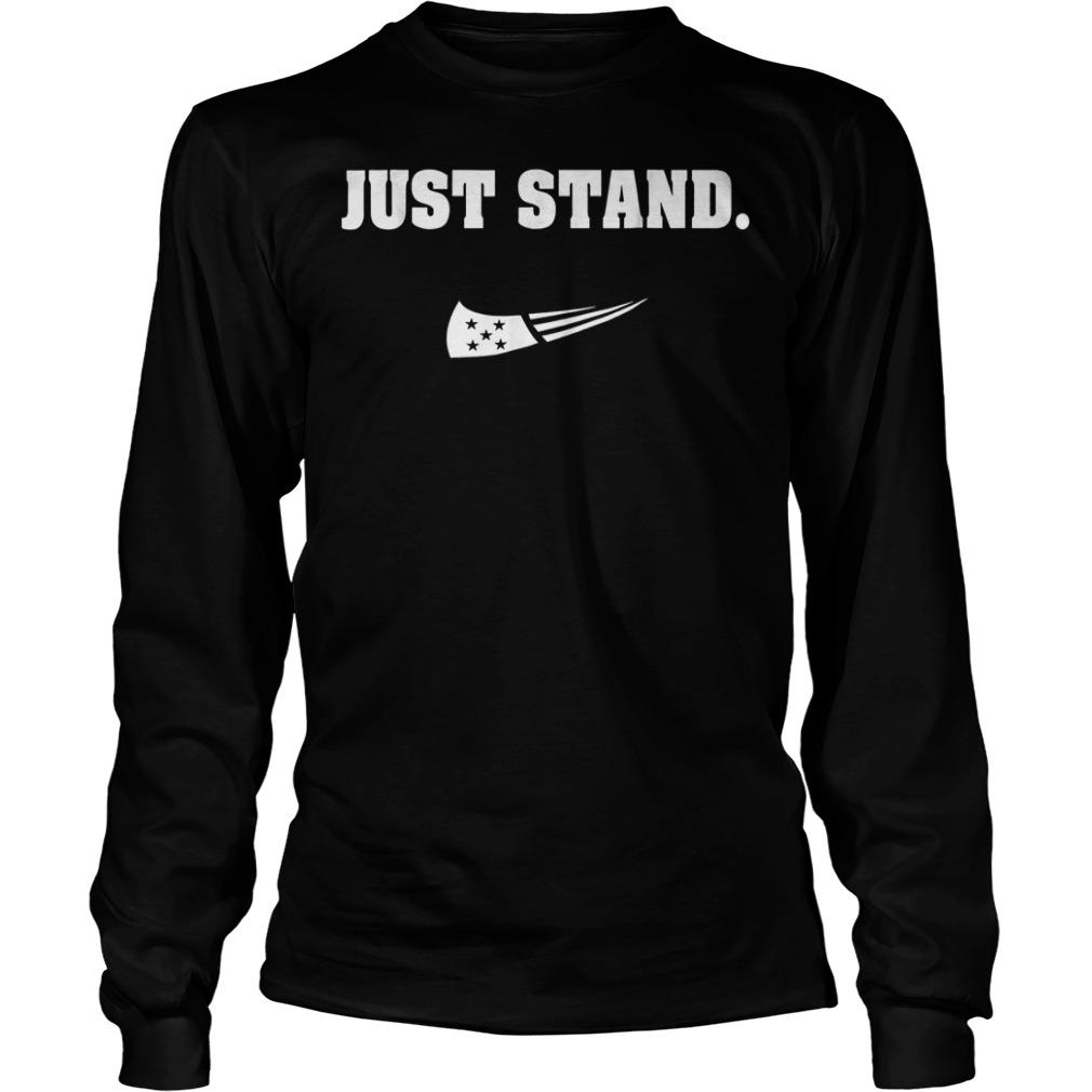 Just Stand Nike mashup american flag Shirt Longsleeve Tee Unisex