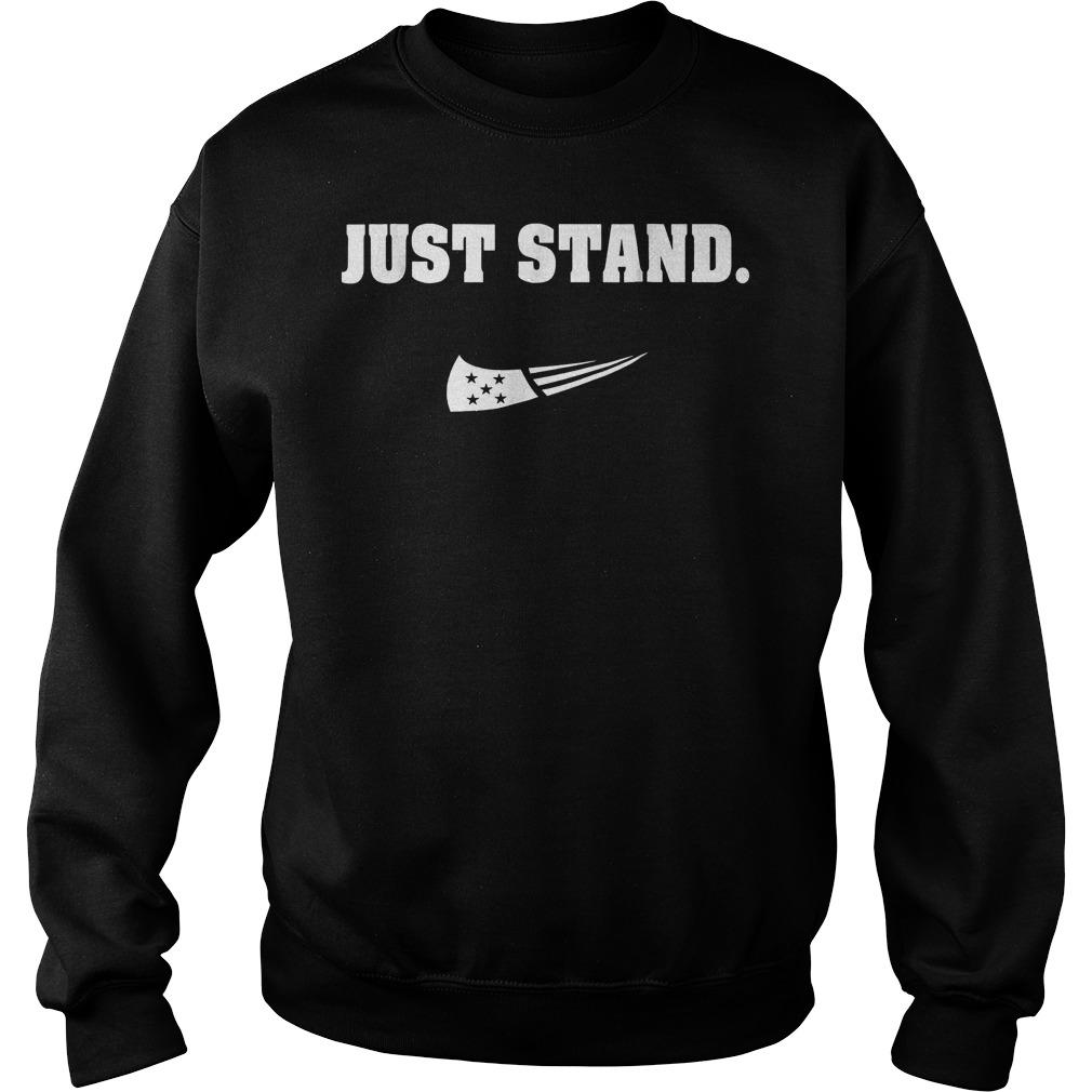 Just Stand Nike mashup american flag Shirt Sweatshirt Unisex