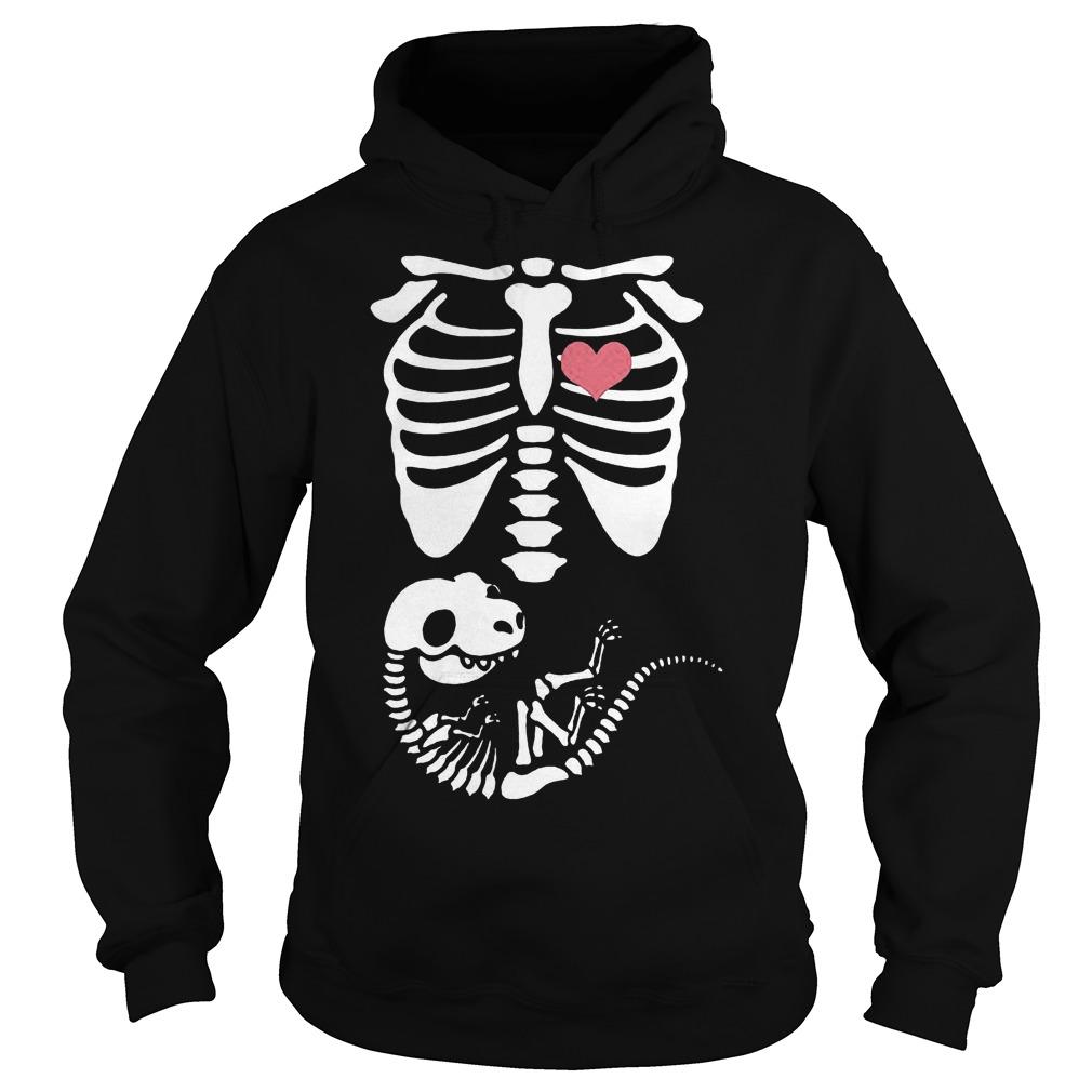 Pregnancy dinosaurs skeleton Shirt Hoodie