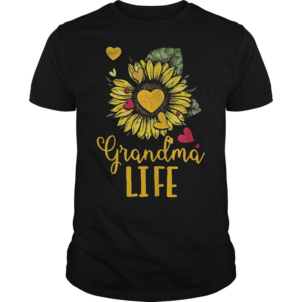 Sunflower grandma life shirt