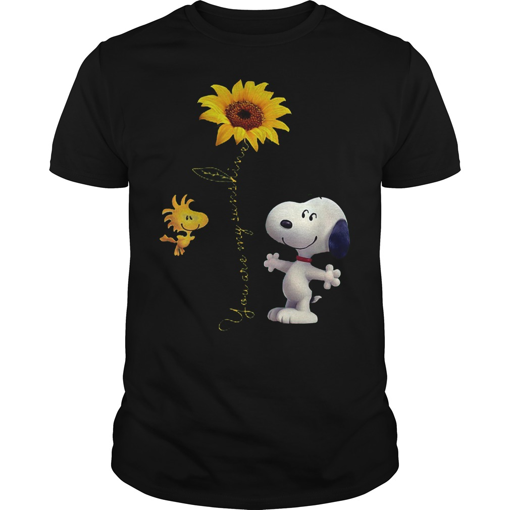 Sunflowers and Snoopy You are my sunshine Shirt