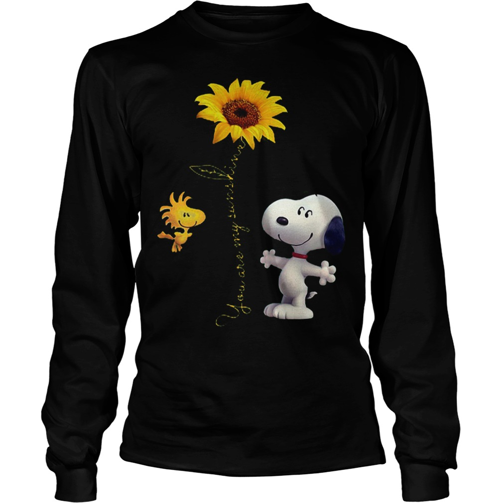Sunflowers and Snoopy You are my sunshine Shirt Longsleeve Tee Unisex