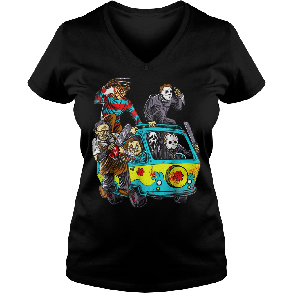 The Massacre machine halloween horror shirt Ladies V-Neck