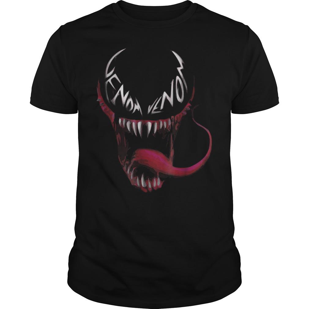 Venom spider face logo shirt