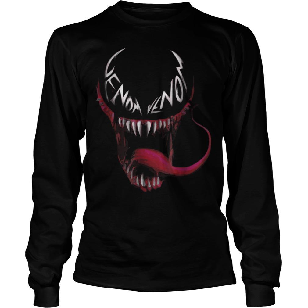 Venom spider face logo shirt Longsleeve Tee Unisex