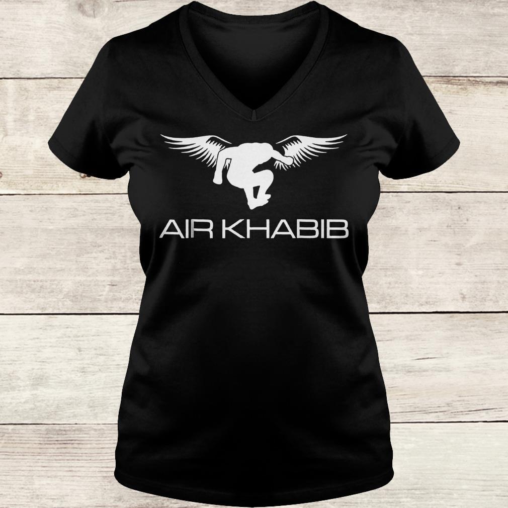 Air Khabib Eagle Khabib jump shirt Ladies V-Neck