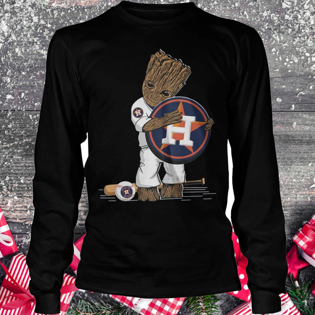 Baby Groot Houston Astros shirt Longsleeve Tee Unisex