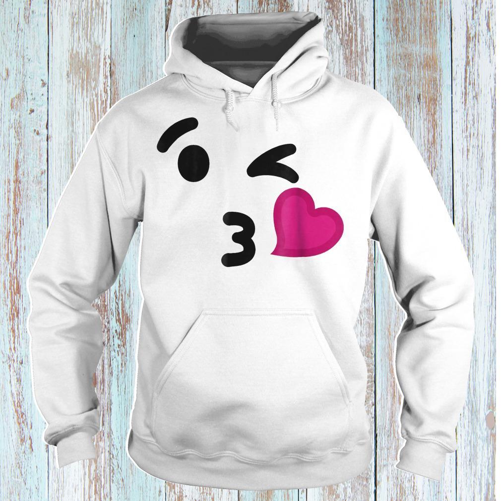 Blowing kiss emoji funny halloween costume shirt