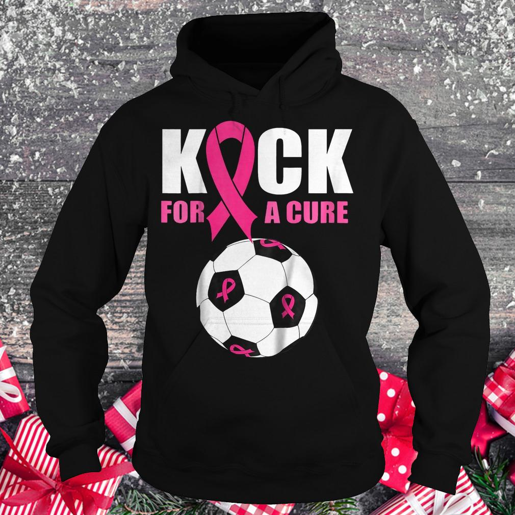 Breast cancer awareness soccer ball Ribbon shirt Hoodie