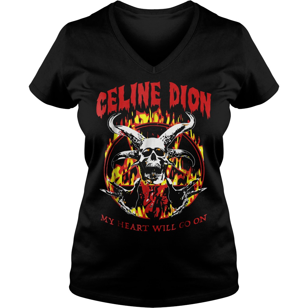 Celine Dion my heart will go on shirt Ladies V-Neck