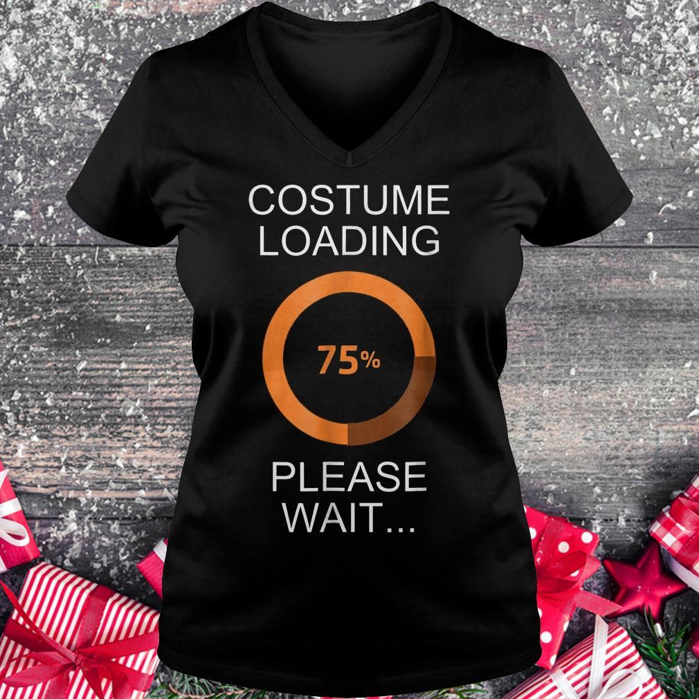 Costume loading please wait shirt Ladies V-Neck