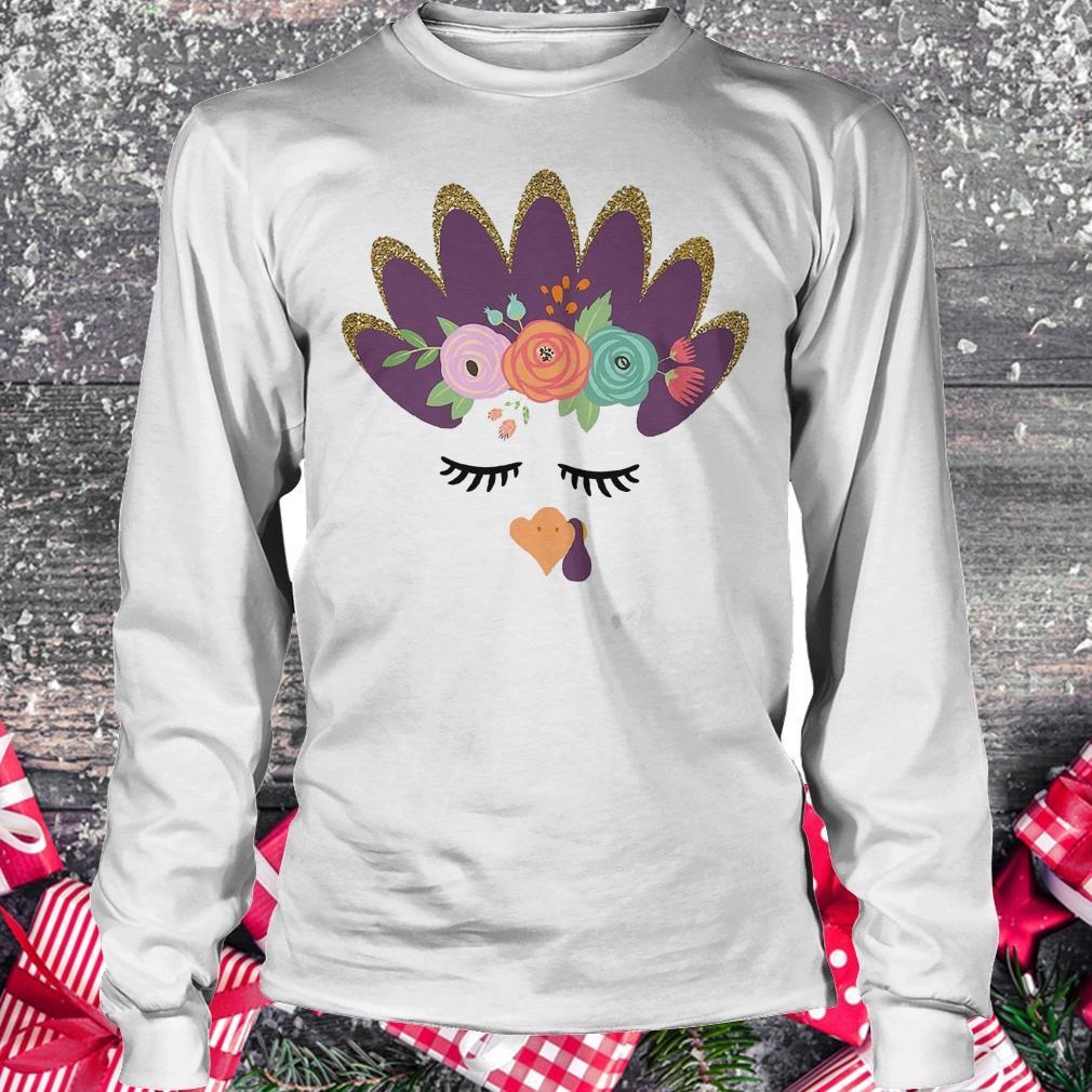 Girls' glam Turkey shirt Longsleeve Tee Unisex