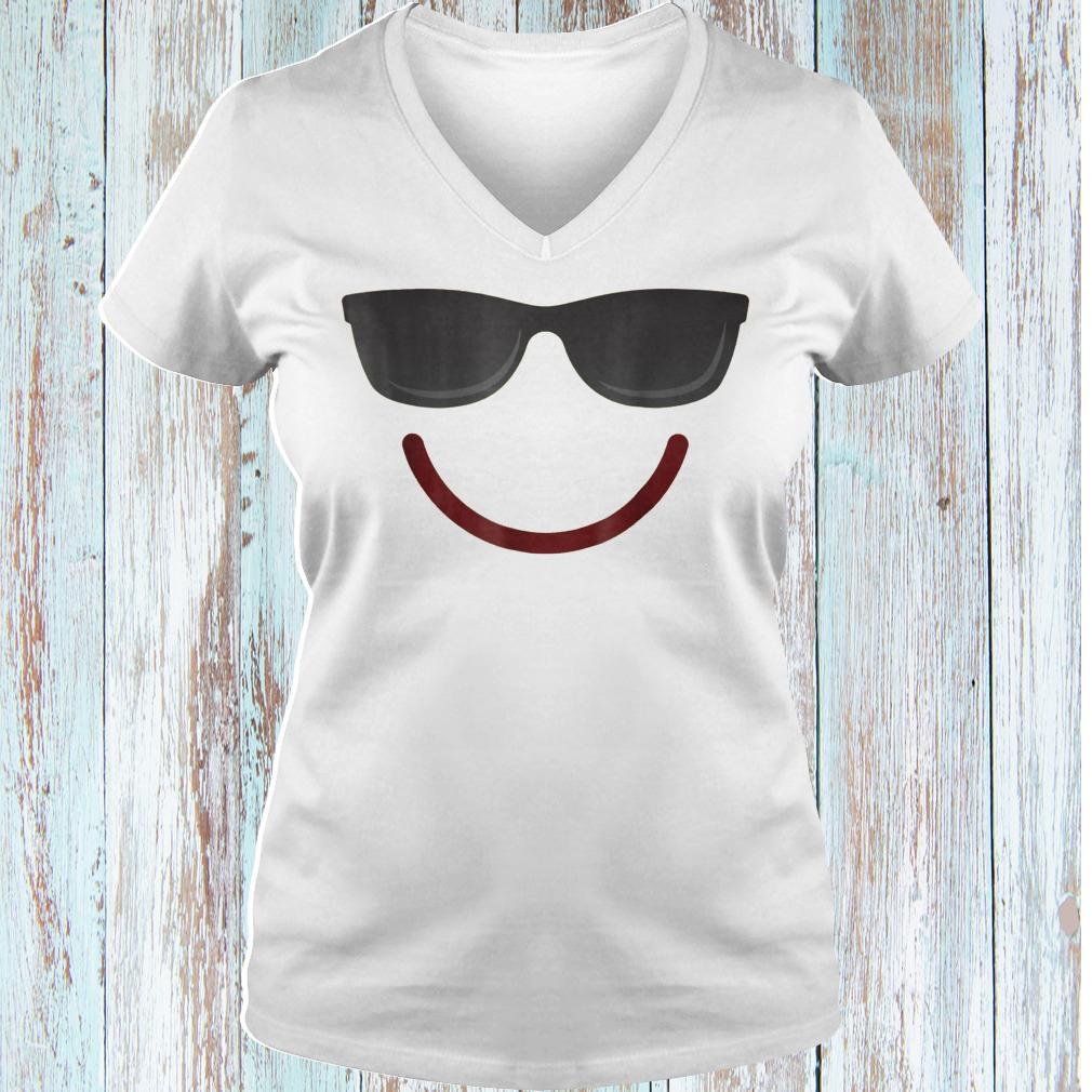Halloween Emojis smile sunglasses shirt Ladies V-Neck