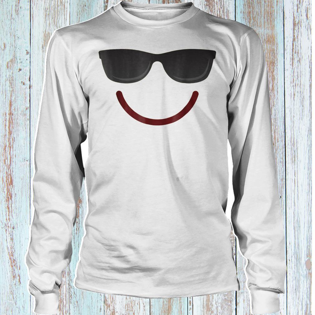 Halloween Emojis smile sunglasses shirt Longsleeve Tee Unisex