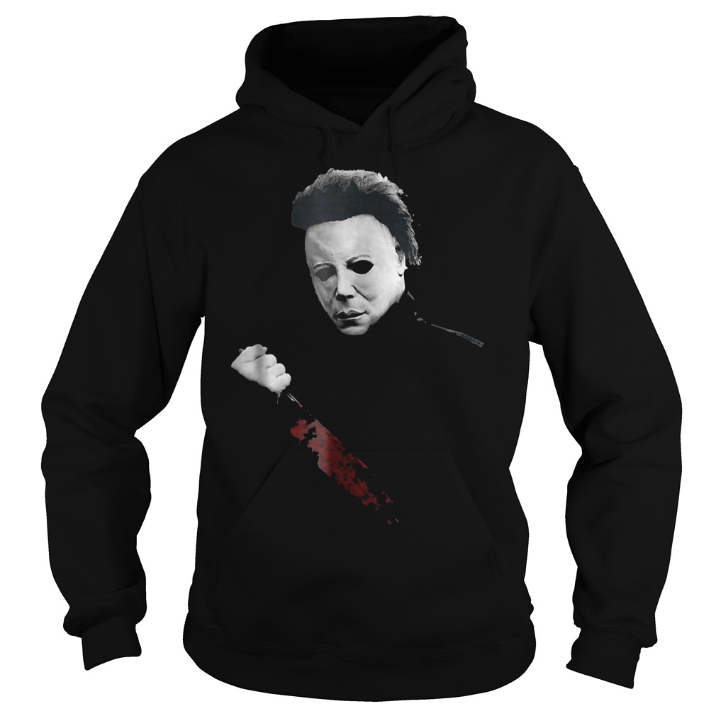 Halloween Michael Myers large knife shirt Hoodie