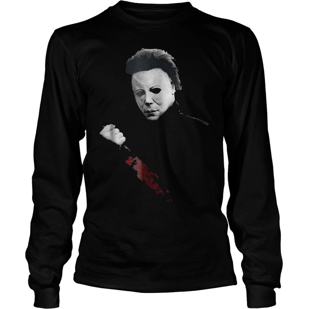 Halloween Michael Myers large knife shirt Longsleeve Tee Unisex