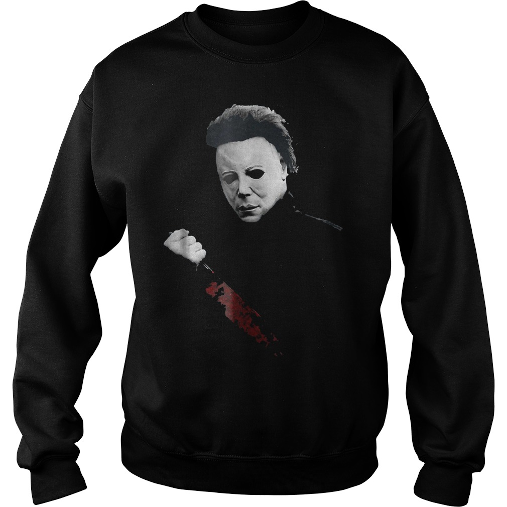 Halloween Michael Myers large knife shirt Sweatshirt Unisex
