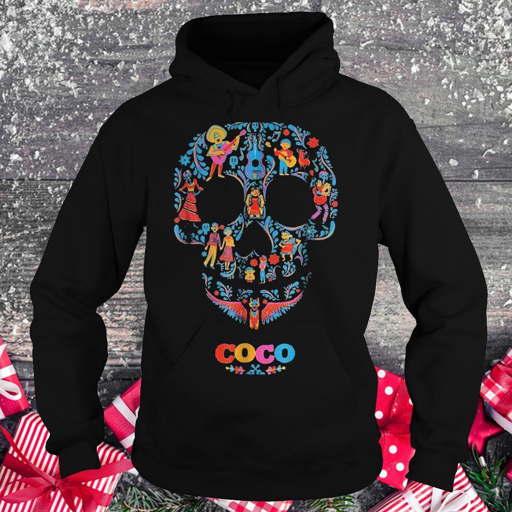 Halloween skull coco shirt Hoodie