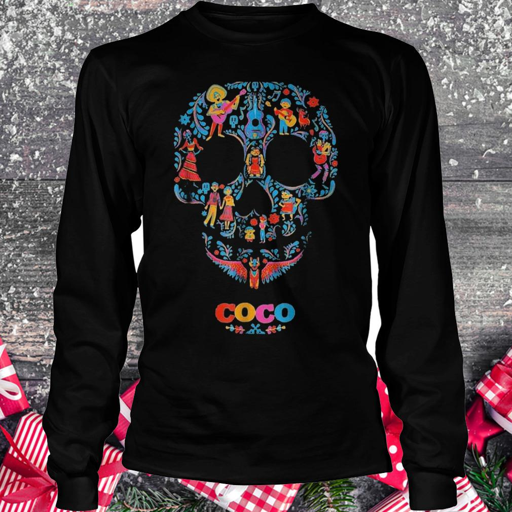 Halloween skull coco shirt Longsleeve Tee Unisex