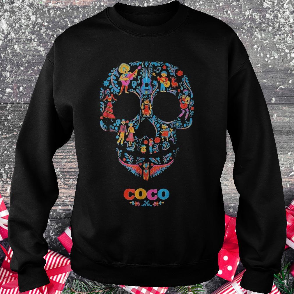 Halloween skull coco shirt Sweatshirt Unisex