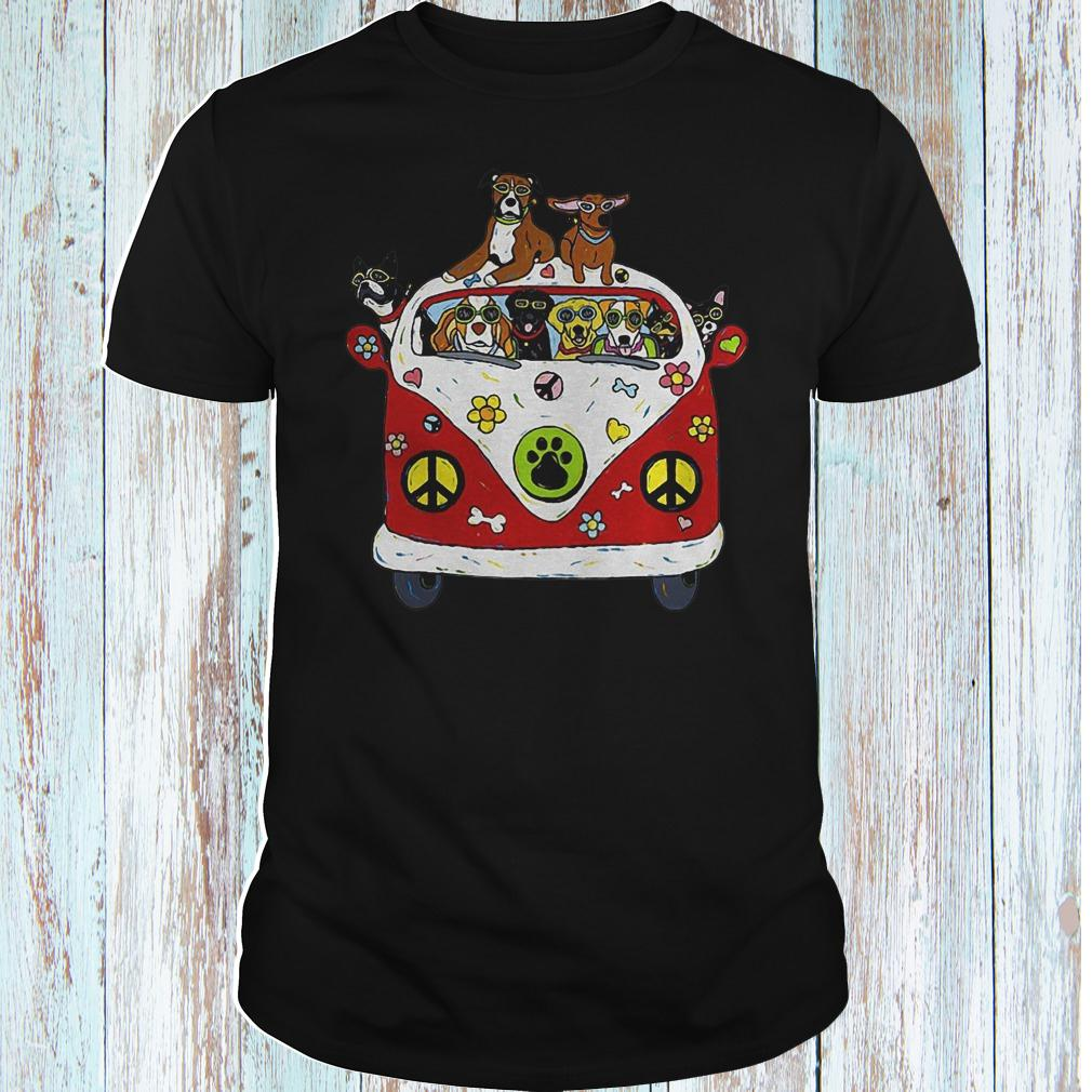 Hippie car dogs shirt