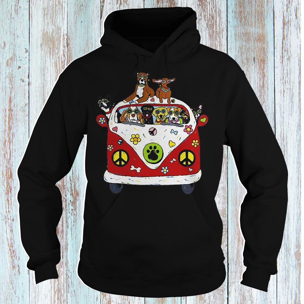 Hippie car dogs shirt Hoodie