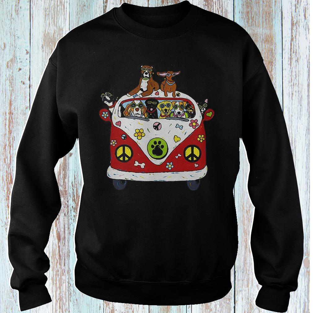 Hippie car dogs shirt Sweatshirt Unisex