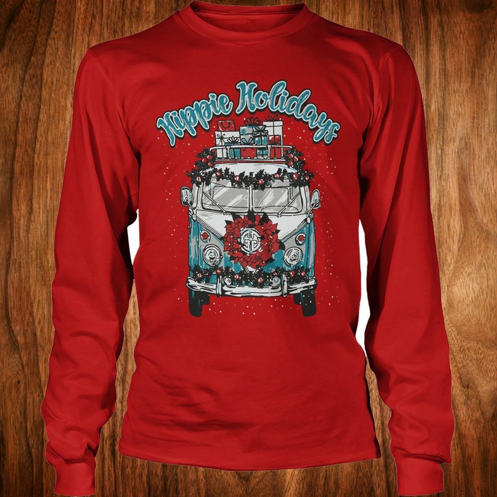 Hot Christmas Hippie Holidays Sweatshirt Longsleeve Tee Unisex