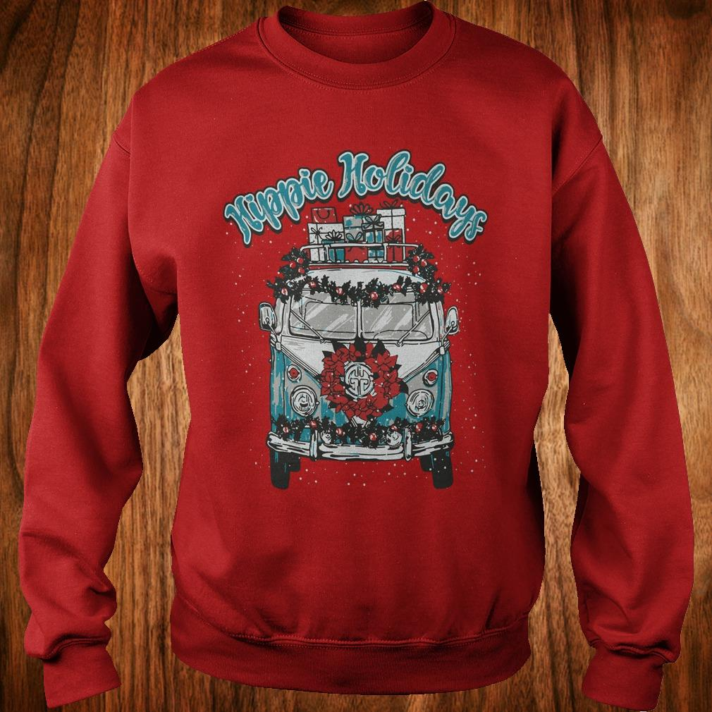 Hot Christmas Hippie Holidays Sweatshirt Sweatshirt Unisex