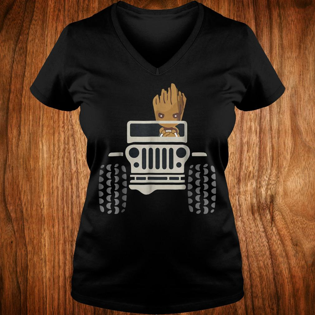 I Am Groots withs Jeeps's shirt Ladies V-Neck