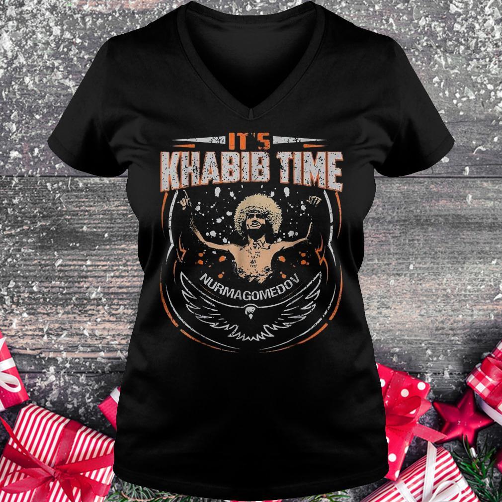 It's Khabib time Nurmagomedov shirt Ladies V-Neck