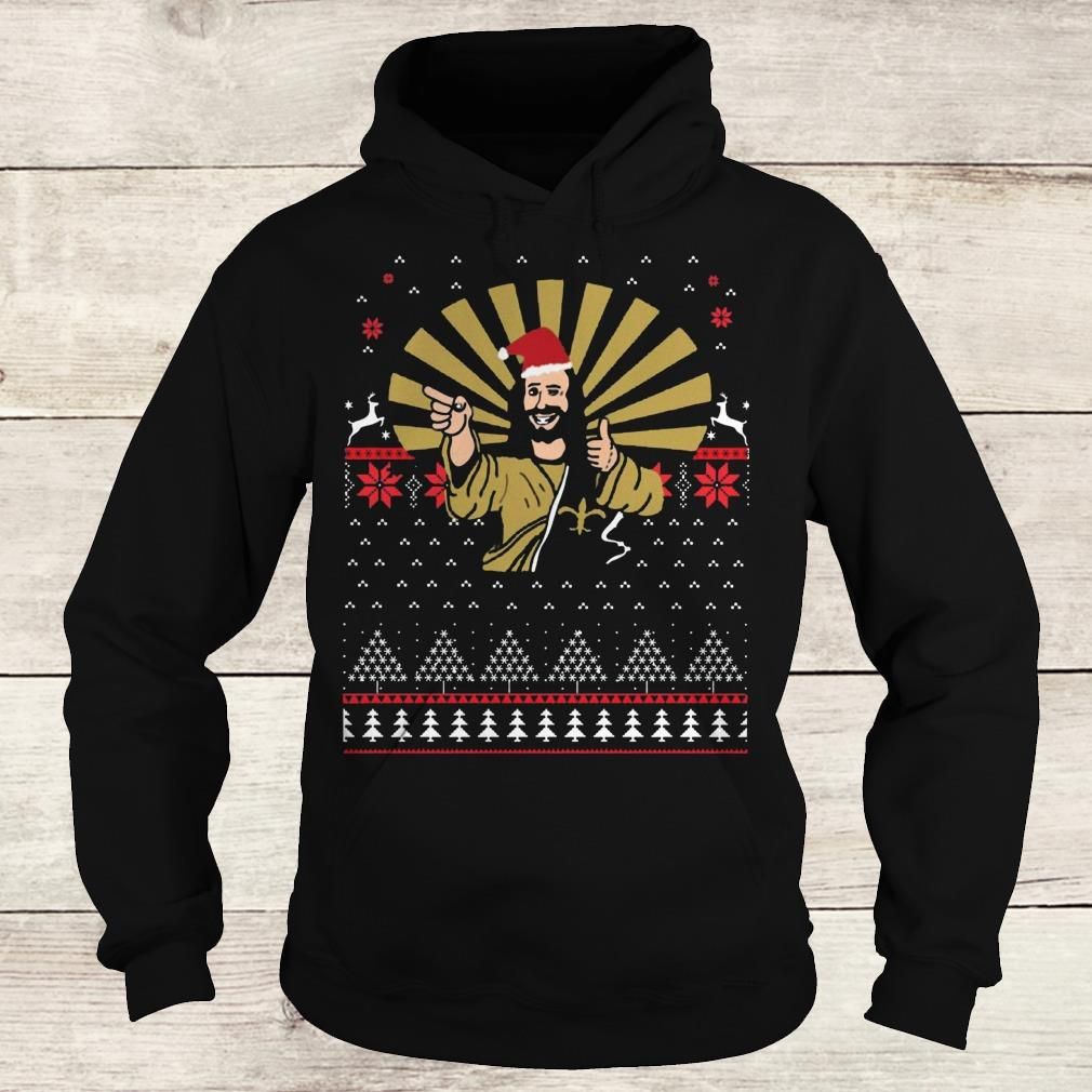 Jesus Santa Ugly Christmas sweater shirt Hoodie
