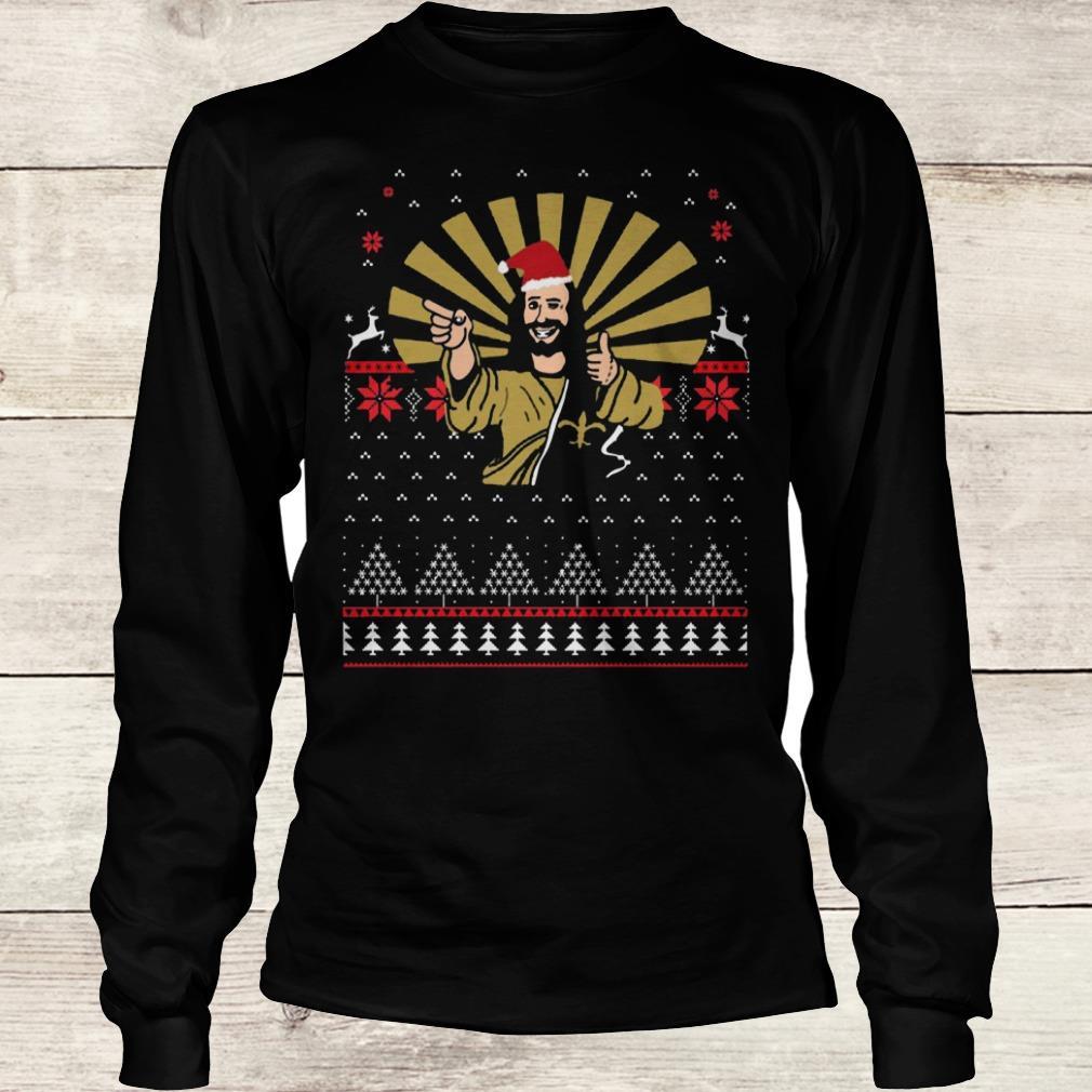 Jesus Santa Ugly Christmas sweater shirt Longsleeve Tee Unisex
