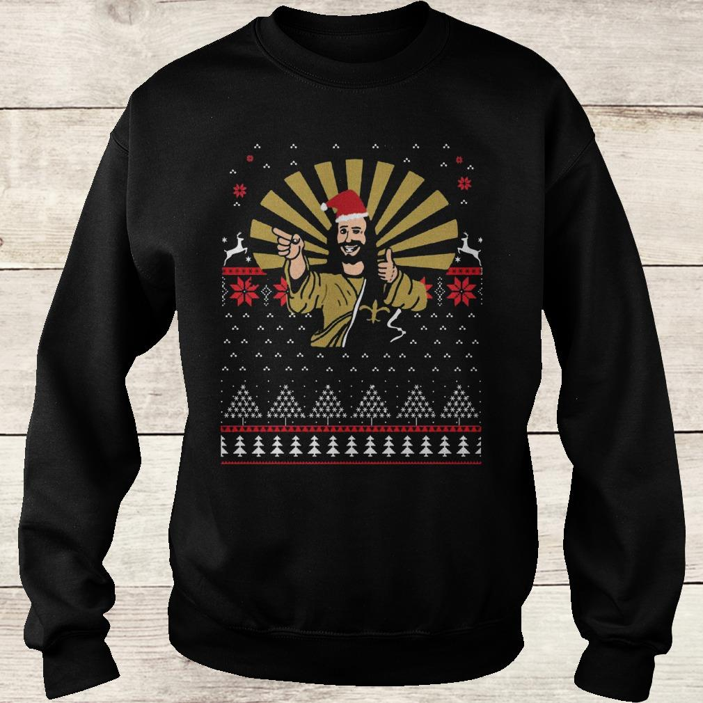 Jesus Santa Ugly Christmas sweater shirt Sweatshirt Unisex