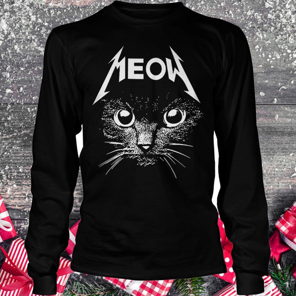 Meow cat shirt Longsleeve Tee Unisex