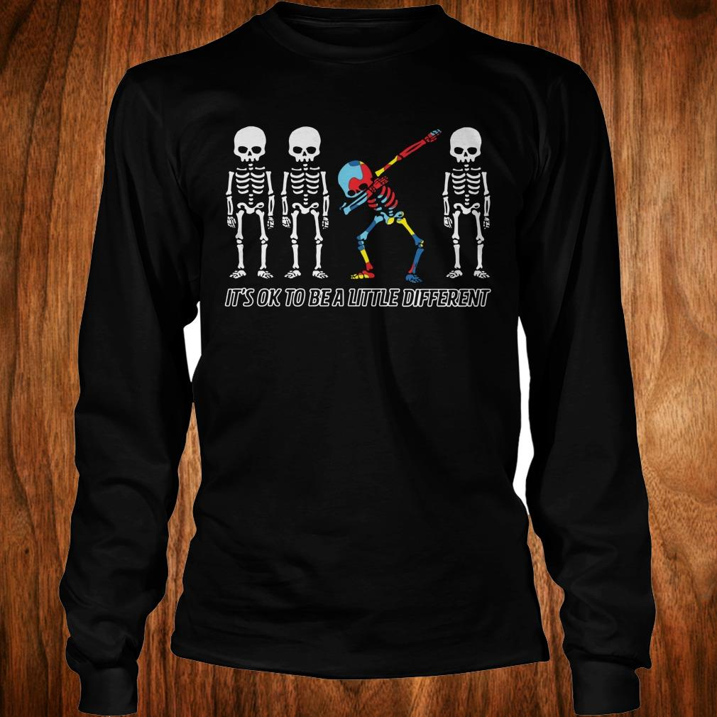 Official Autism skeleton dabbing it's ok to be a little different shirt