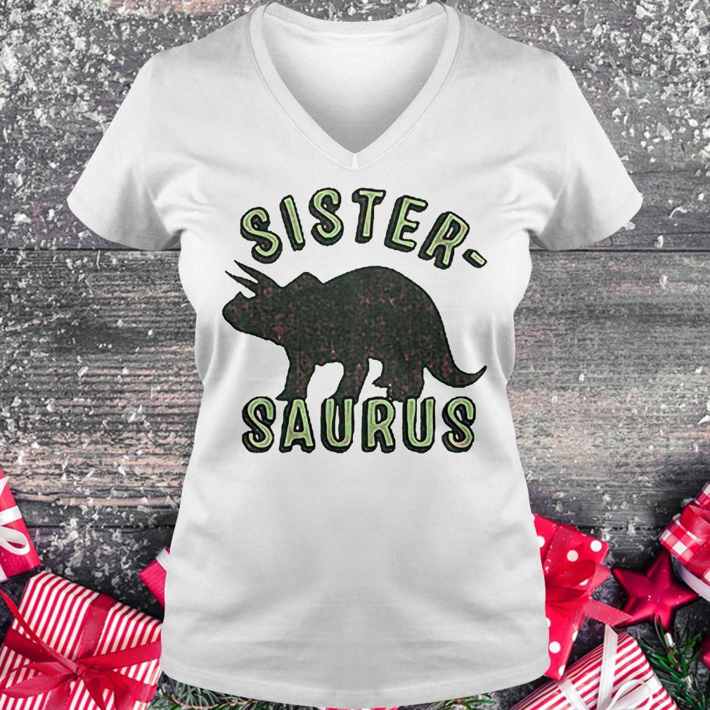 Sister Saurus shirt Ladies V-Neck