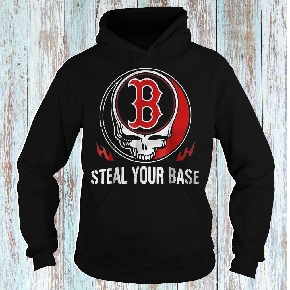Skull Boston Red Sox steal your base shirt Hoodie