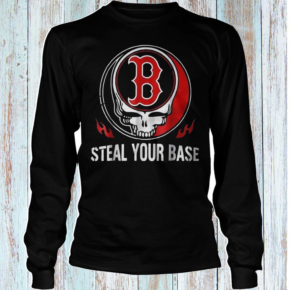 Skull Boston Red Sox steal your base shirt Longsleeve Tee Unisex