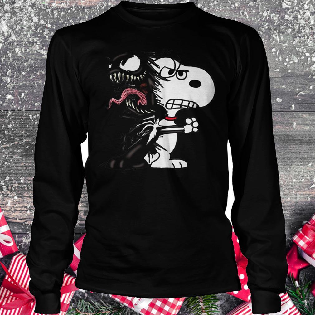 Snoopy Venom Marvel shirt Longsleeve Tee Unisex